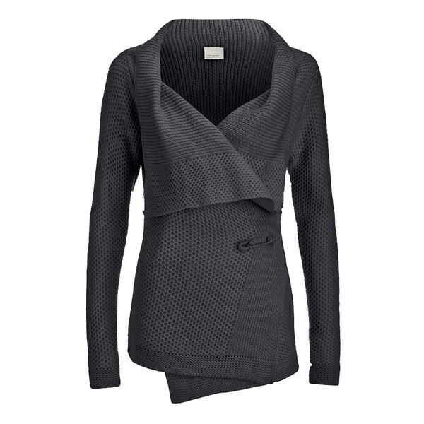 Vero Moda Women's Ripa Long Sleeve Cardigan - Dark Grey Melange