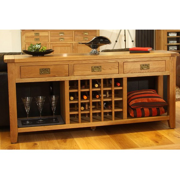 Vancouver oak vxa001 wine console sideboard iwoot for Furniture vancouver wa
