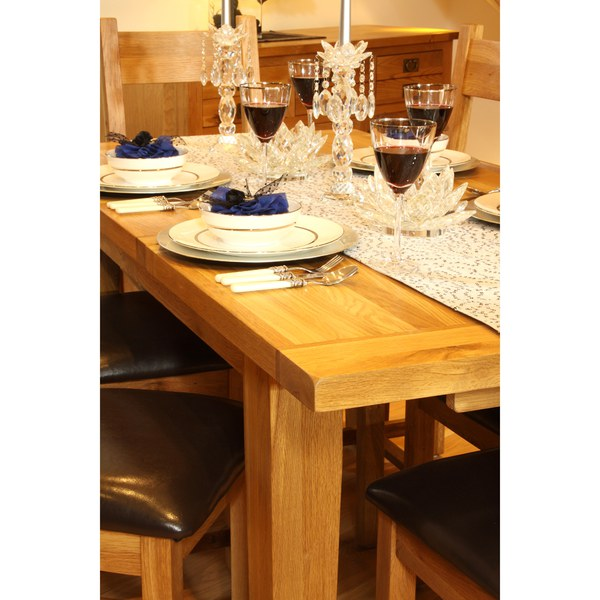 Vancouver oak vxd001 extension dining table 2540mm iwoot for Furniture vancouver wa
