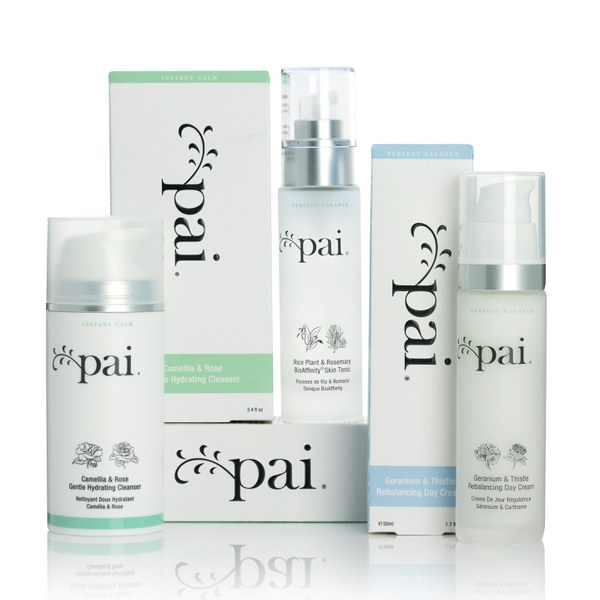 Pai Skincare Perfect Balance coffret équilibrant avec une lotion hydratante, une lotion tonique et un soin nettoyant