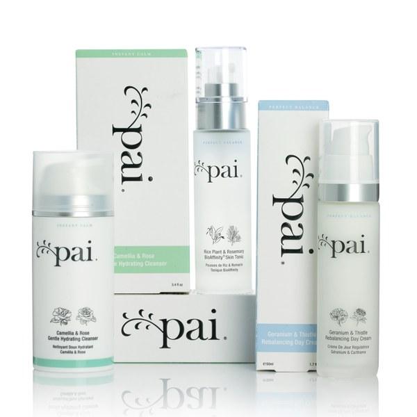 Set Crema Hidratante, Tonificante y Limpiador Pai Skincare Instant Calm