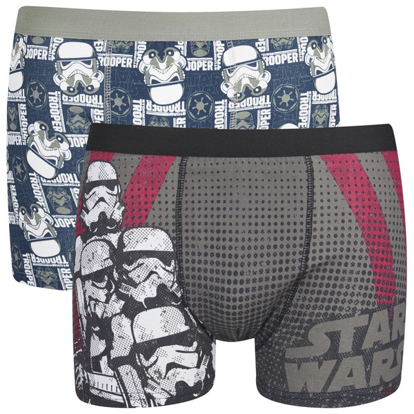Star Wars Men's 2 Pack Stormtrooper Boxers - Black