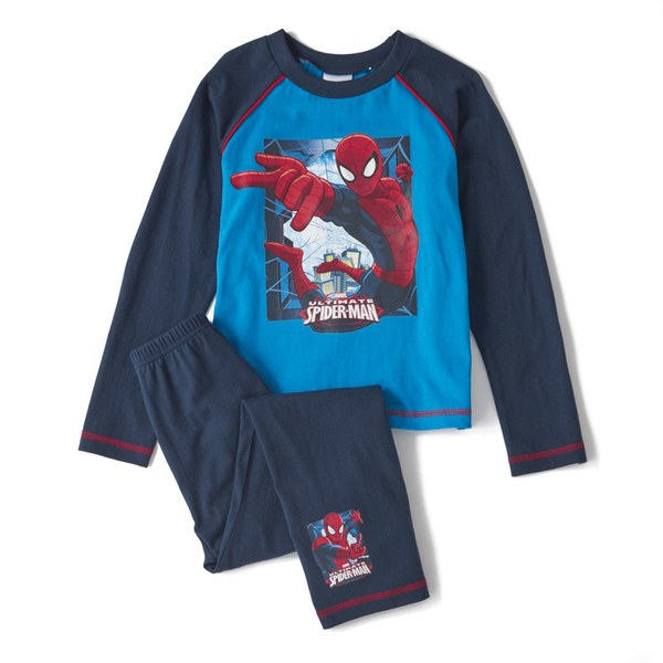 Marvel Spiderman Boy's Long Sleeve Pyjamas - Navy