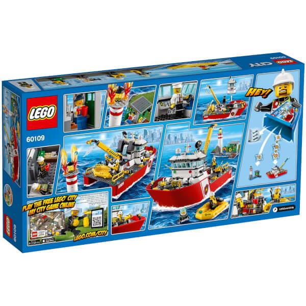 lego city le bateau des pompiers 60109 image 5 - Lego City Bateau