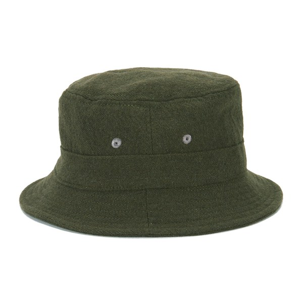 Universal Works Men s Samoa Wool Bucket Hat - Olive  Image 1 c15ee70db3a