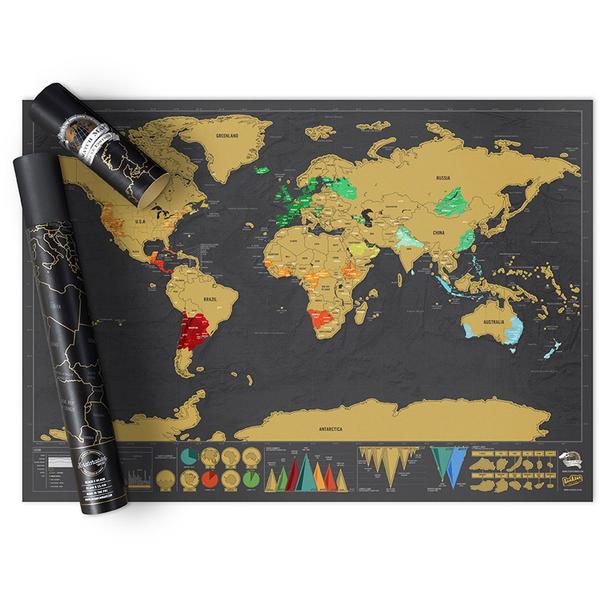 Carte du Monde à Gratter - Édition Deluxe