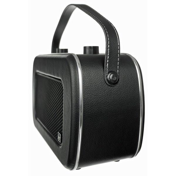 kitsound jive retro portable dab radio with alarm clock black iwoot. Black Bedroom Furniture Sets. Home Design Ideas