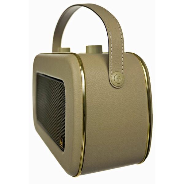 kitsound jive retro portable dab radio with alarm clock cream gold iwoot. Black Bedroom Furniture Sets. Home Design Ideas