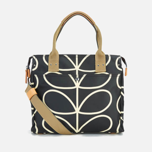 Orla Kiely Women's Zip Messenger Bag - Black