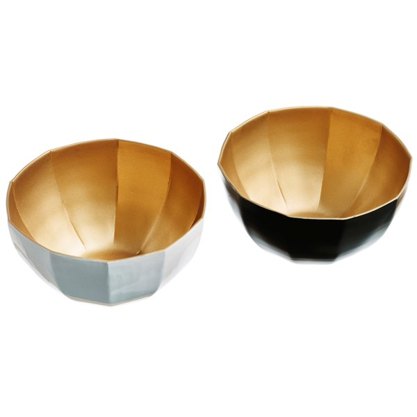 Just Slate Gold and Enamel Nesting Bowls
