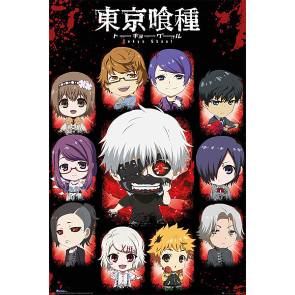 Tokyo Ghoul Chibi Characters - 24 x 36 Inches Maxi Poster