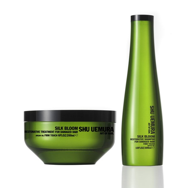 Shu Uemura Art of Hair Silk Bloom duo réparateur - shampooing (300ml) et traitement réparateur (200ml)