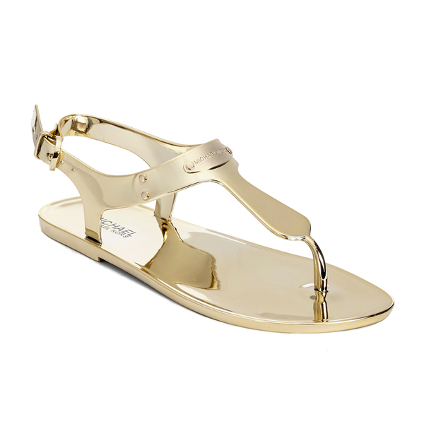b34988d8941 MICHAEL MICHAEL KORS Women s MK Plate Jelly Sandals - Gold  Image 5