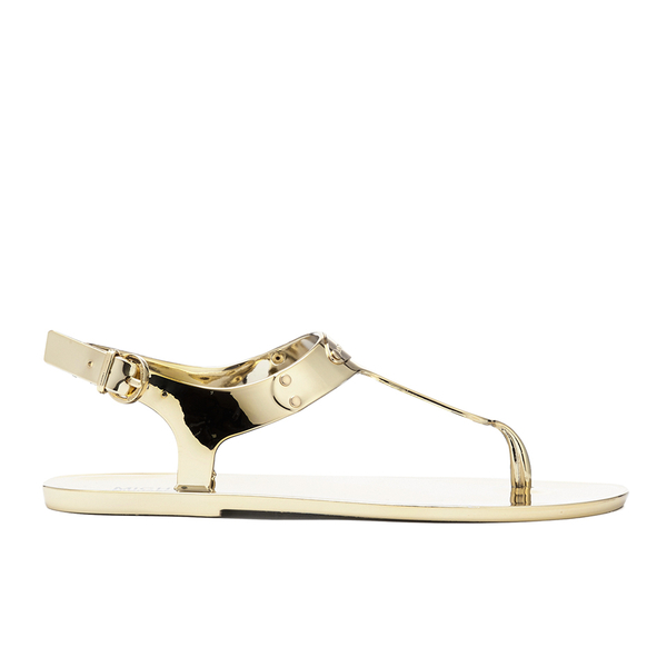 bec1aa3b301 MICHAEL MICHAEL KORS Women s MK Plate Jelly Sandals - Gold  Image 1