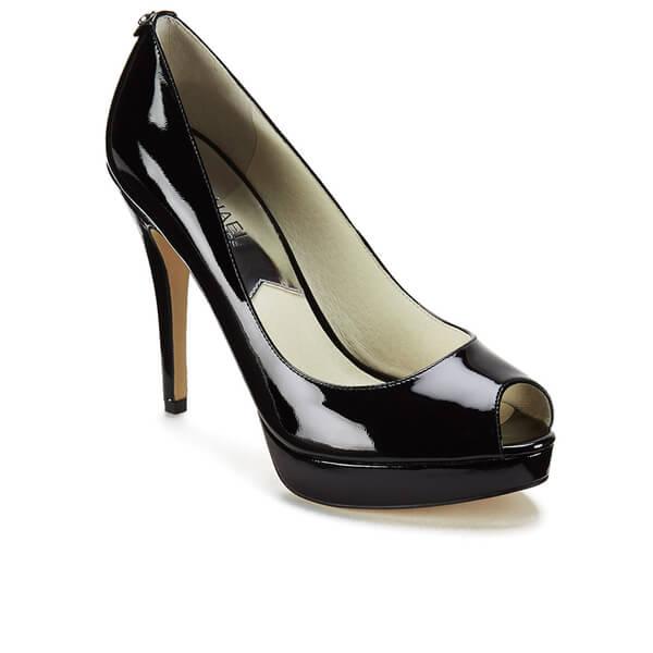 b8902b466a27 MICHAEL MICHAEL KORS Women s York Patent Peep Toe Heels - Black  Image 2