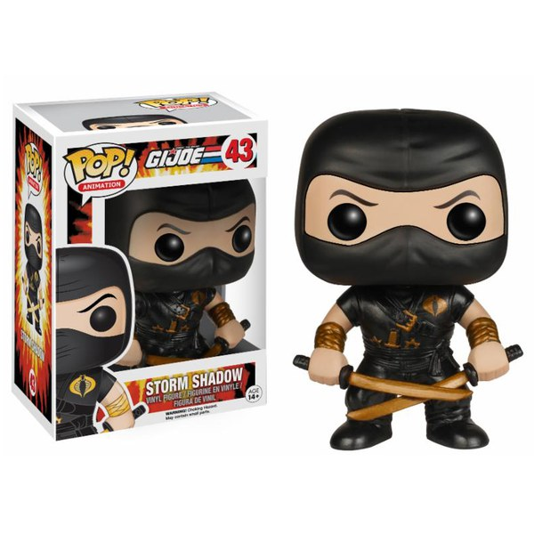 G.I. Joe Storm Shadow Ltd Edition Black Costume Pop! Vinyl Figure