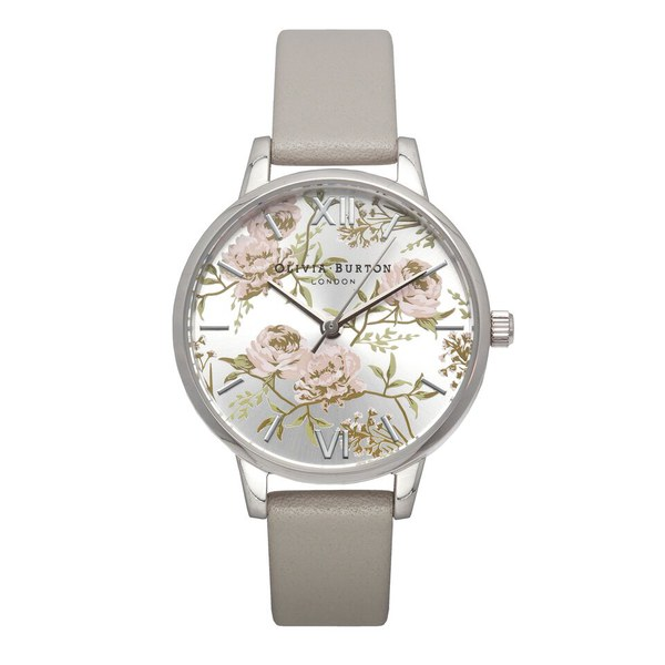 Olivia Burton Women's Parlour Watch Grey & Silver