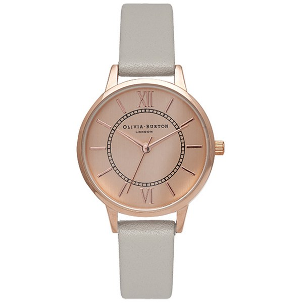 Olivia Burton Women's Wonderland Watch Grey & Rose Gold