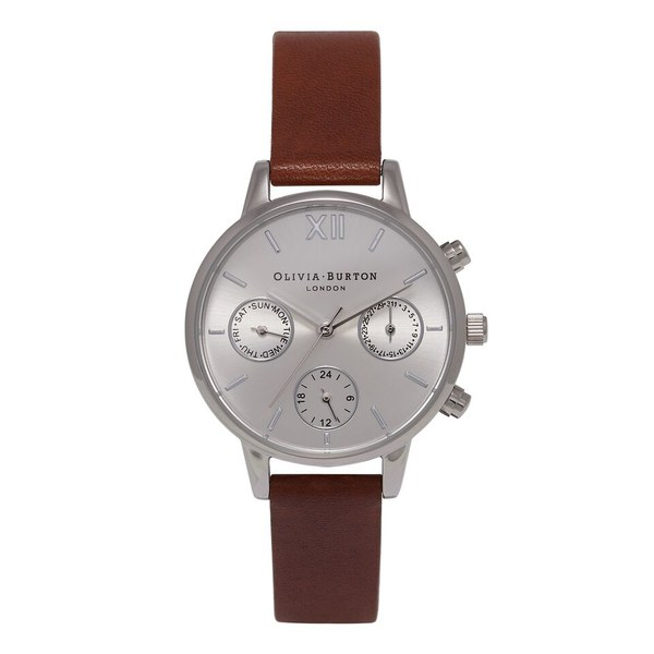 Olivia Burton Women's Midi Dial Chrono Watch - Tan/Silver
