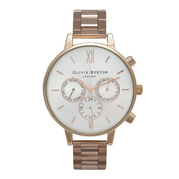 Olivia Burton Women's Big Dial Chrono Watch - Rose Gold Bracelet