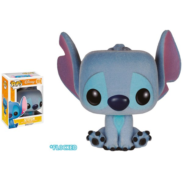 Disney Flocked Seated Stitch Limited Edition Pop! Vinyl Figure