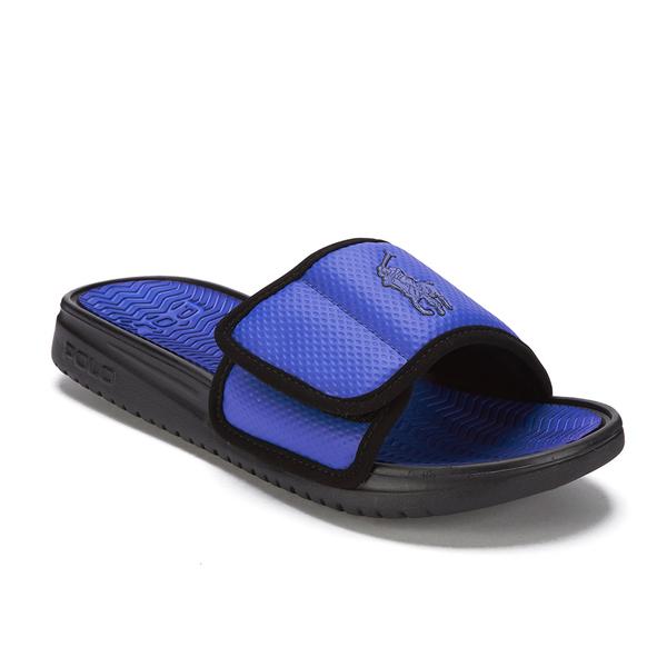 b15a3675732 Polo Ralph Lauren Men s Romsey Slide Sandals - Royal Black  Image 2