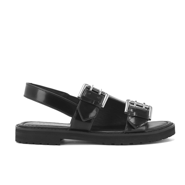 Opening Ceremony Women's Mirror Leather Double Strap Sandals - Black