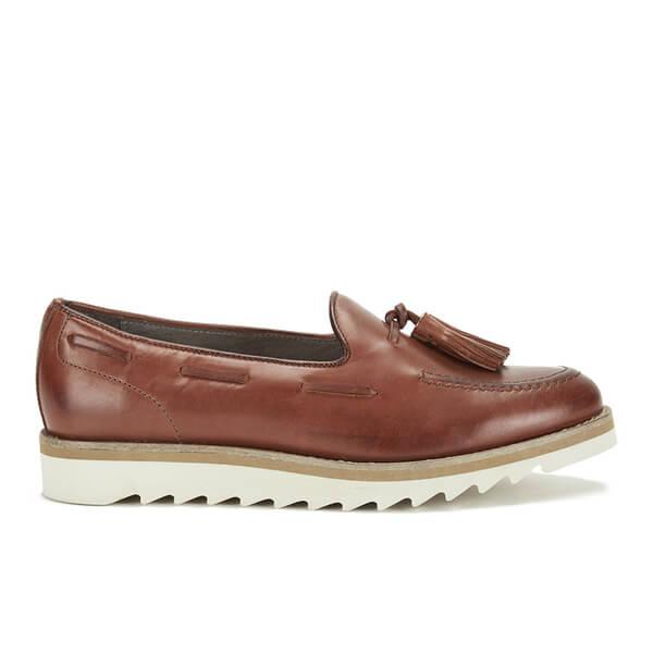 Hudson London Women's York Leather Tassle Loafers - Tan