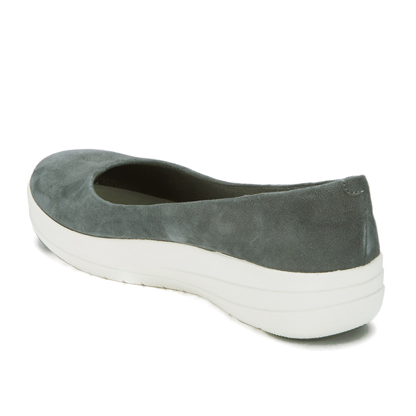 637b51014562e FitFlop Women s F-Sporty Suede Ballerina Pumps - Charcoal  Image 4
