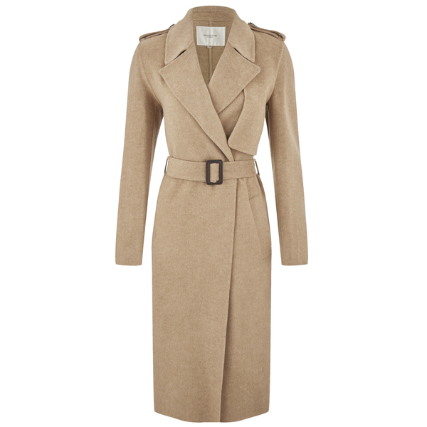 Selected Femme Women's Tana Trench Coat - Camel