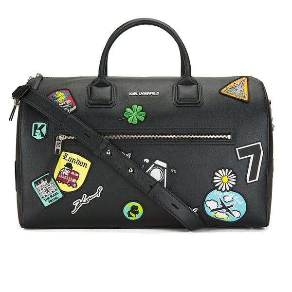 Karl Lagerfeld Womens Weekender Bag Black Free Uk Delivery Over 50