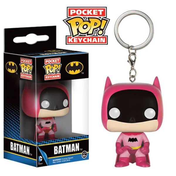 Batman 75th Anniversary Pink Batman Pop! Vinyl Keychain