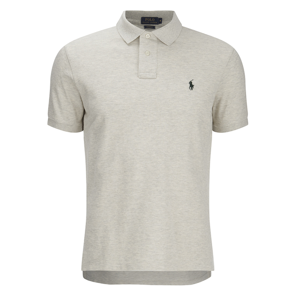 Polo Ralph Lauren Men's Short Sleeve Custom Fit Polo Shirt - Oxford Heather