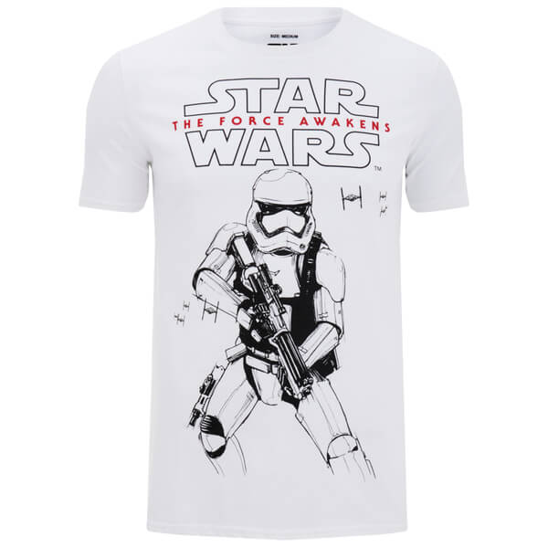 Star Wars Men's Stormtrooper Sketch T-Shirt - White