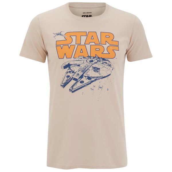 Star Wars Men's Retro Falcon T-Shirt - Sand