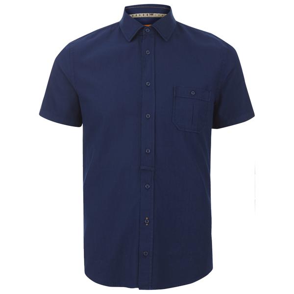 BOSS Orange Men's Eslimye Short Sleeve Shirt - Indigo