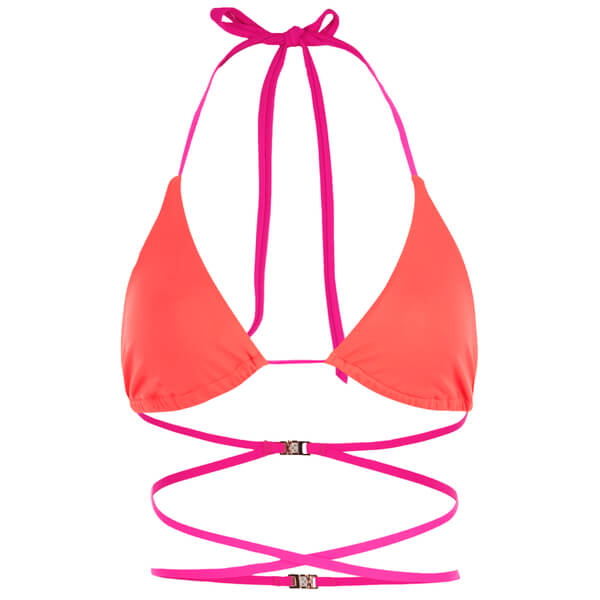 L'Agent by Agent Provocateur Women's Eleena Bikini Top - Neon Melon/Pink