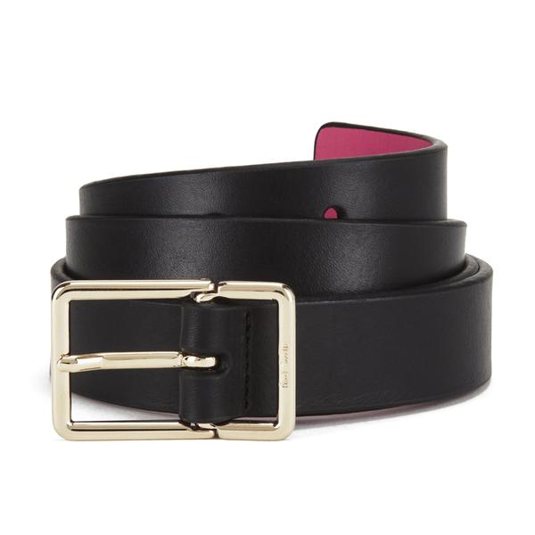 Paul Smith Accessories Women's Leather Contrast Belt - Black