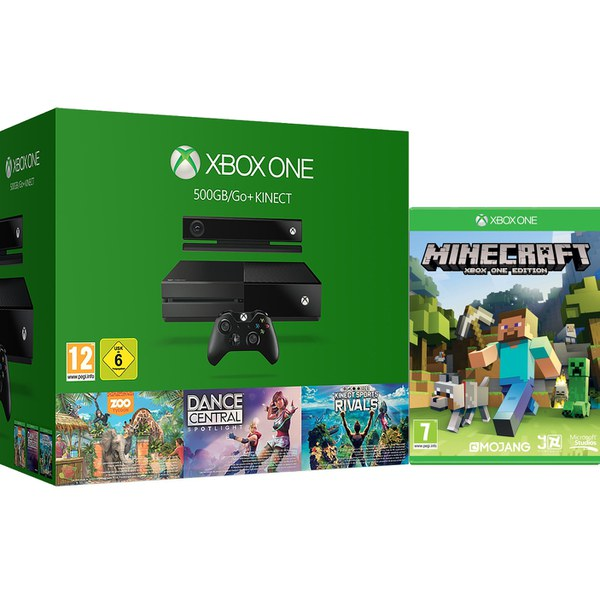 Xbox One Holiday Value Bundle - Includes Minecraft Games Consoles ...