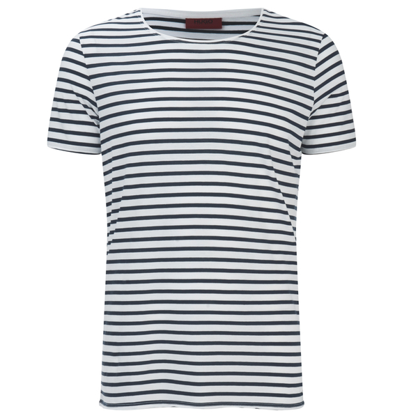 HUGO Men's Dhoenix Striped T-Shirt - White