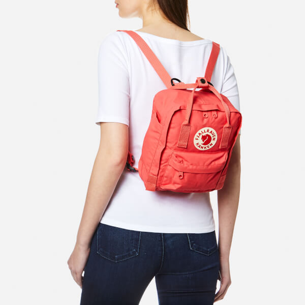 Fjallraven Kanken Mini Backpack - Peach Pink: Image 11