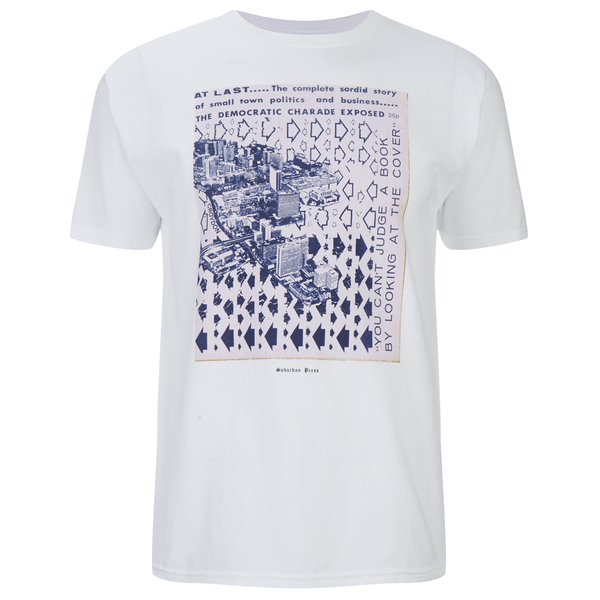 OBEY Clothing X Jamie Reid Men's Suburban Press Issue 6 Basic T-Shirt - White