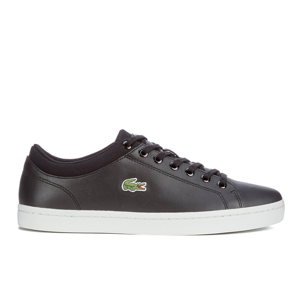 3cb47784d34db Lacoste Men s Straightset SPT 116 1 Leather Trainers - Black Mens ...
