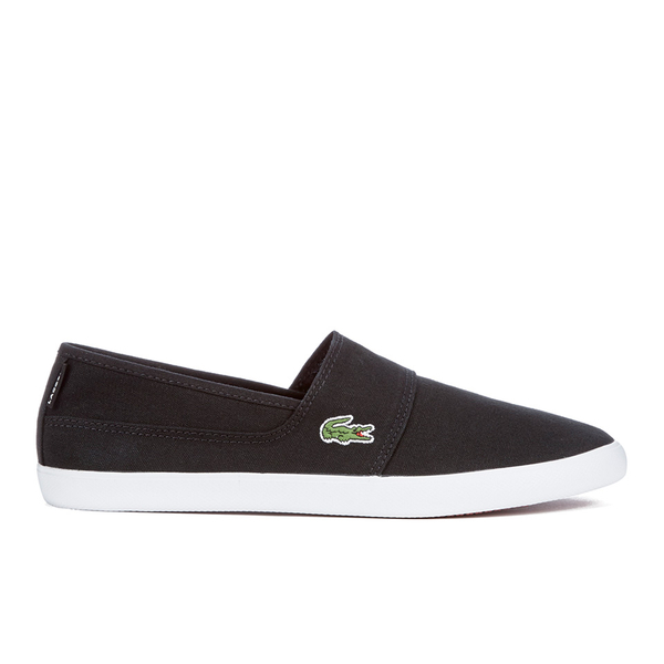 27dbb6223c47 Lacoste Men s Marice Canvas Slip On Pumps - Black  Image 1