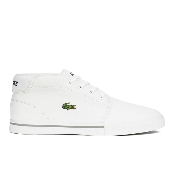 baa39db442bb0c Lacoste Men s Ampthill LCR 2 Canvas Chukka Trainers - White Mens ...
