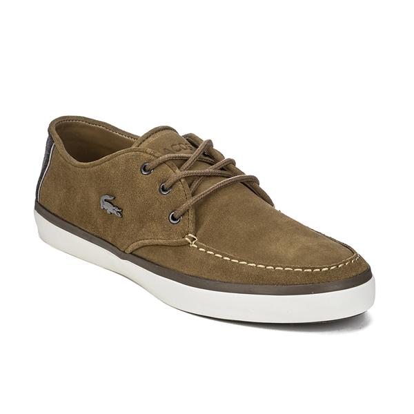 97c24ebf129c7c Lacoste Men s Sevrin 2 LCR Suede Deck Shoes - Tan Clothing