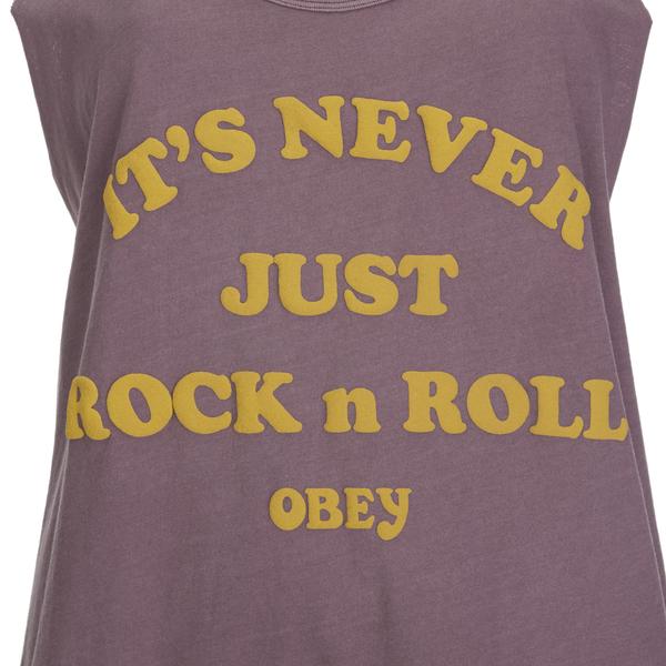 ad93328b8c OBEY Clothing Women s Never Just Rock N Roll Danika Tank Top - Dusty  Merlot  Image