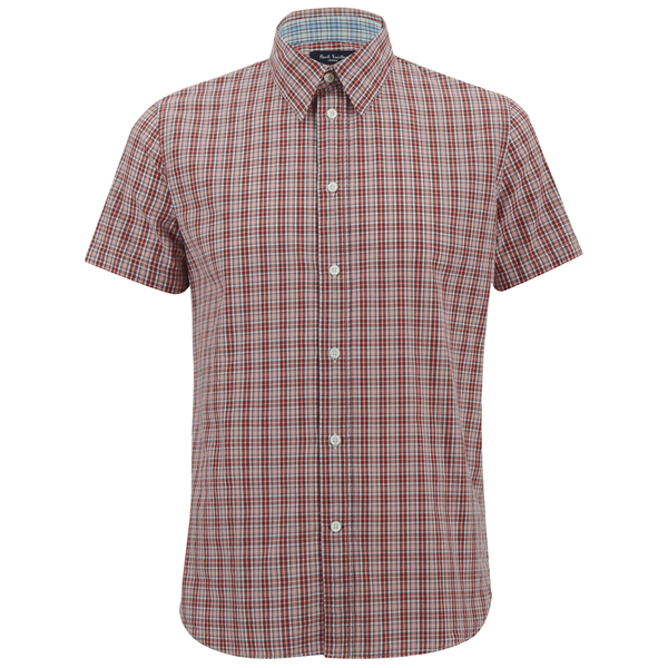 Paul Smith Jeans Men's Classic Fit Check Shirt - Red