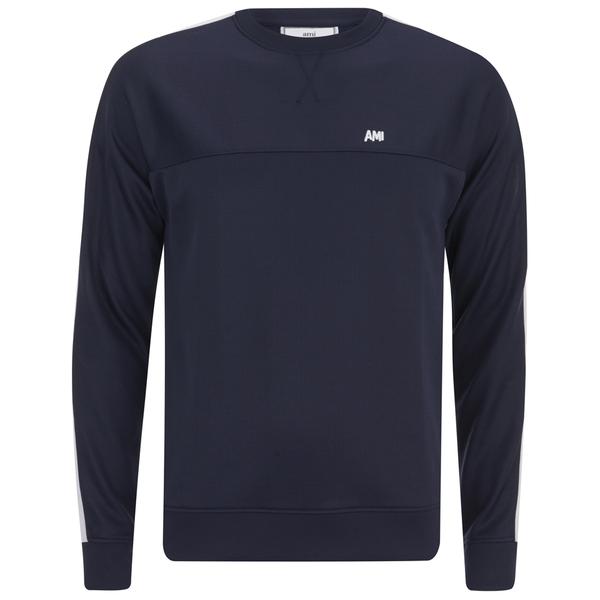 AMI Men's Crew Neck Sweatshirt - Navy