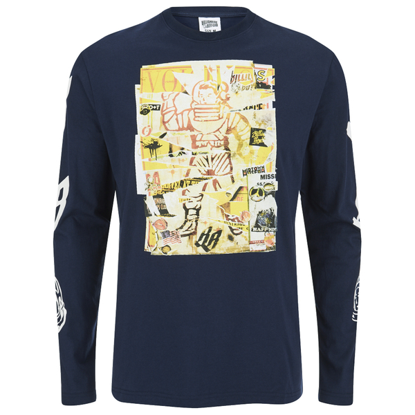 Billionaire Boys Club Men's Astro Poster Long Sleeve T-Shirt - Navy Blazer